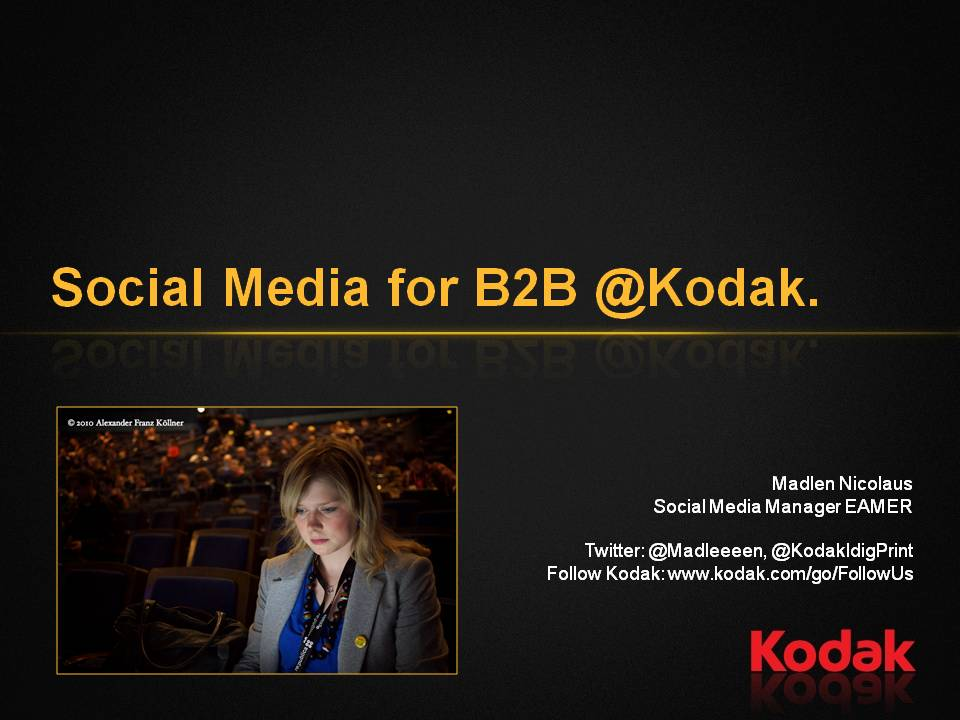 Kodak B2B Marketing Presentation