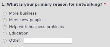 Reasons for networking